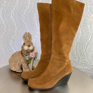 AEROSOLS Suede Tall Boots With Whip Stitching 6